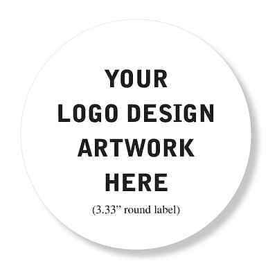 """50 Custom Professional Company Business Logo Design Labels Stickers 3.33"""" Round"""