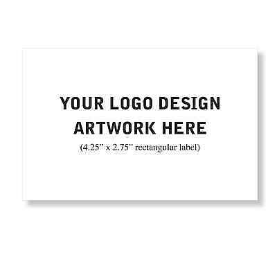 50 Custom Professional Company Business Logo Design Labels Stickers 4.25-2.75""