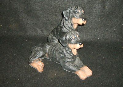 Statue Of Two Rottweiler Puppies * Universal Statuary *. 1994 *