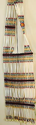 Nice Handcrafted Beaded Hairpipe Double Sided Native American Indian Breastplate