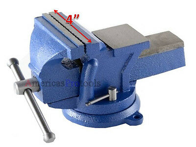 "Bench Vise 4"" Heavy Duty Bench Vise Swivel Base"
