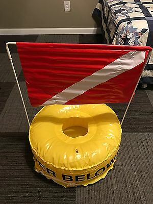 Inflatable Dive Ring And Flag
