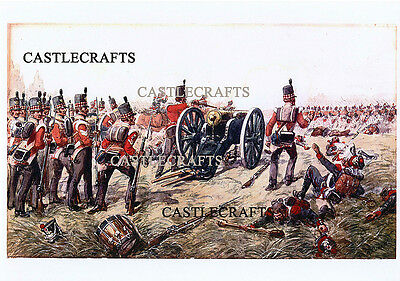71St Foot(Highland Light Infantry) At Waterloo A4 Print