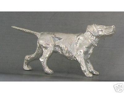 Lovely Miniature Sterling Silver Pointer Dog Figurine