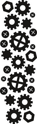 Marianne Design Nuts, Bolts & Gears Craftables Silver Selection Die CR1324