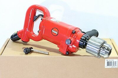 "Suntech 5/8"" Industrial D-Handle Pneumatic Air Drill 1.1 HP 800 RPM Jacobs Chuck"
