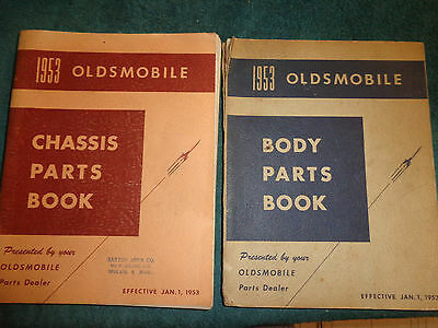1936-1953 Oldsmobile Chassis & Body Parts Catalog Set / Orig Parts Manual Set!!!
