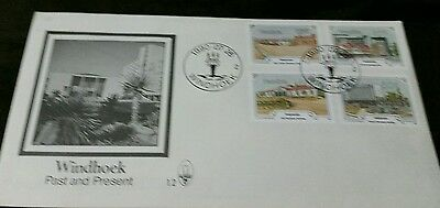 1990, Nambia windhoek Past and present FDC