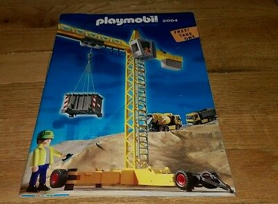 PLAYMOBIL 2004 Toy Catalog Catalogue Playmobile Construction Workers Cover Rare