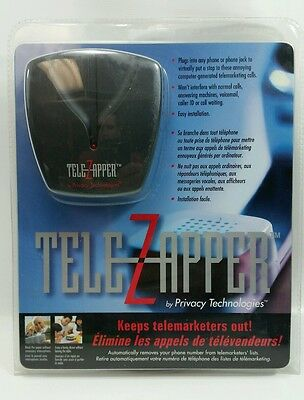 TeleZapper by Privacy Technologies Keeps Telemarketers Out New & Sealed