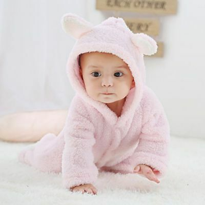 Newborn Baby Infant Boys Girls One Piece Romper Hooded Jumpsuit Bodysuit Outfits