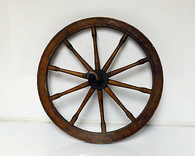 """Antique Spinning Wheel appx 17"""""""