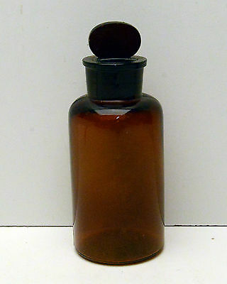 Apothecary Jar Amber Brown bottle