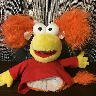Plush Fraggle Rock Red Jim Henson Muppets Hand Puppet FREE SHIPPING