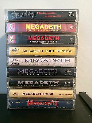 Megadeth Cassette Collection (9 Tapes, Tested!)