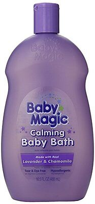 136208 Baby Magic Calming Baby Bath 16.5 Ounce Lavender And Chamomile (488ml)...