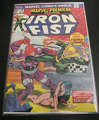 MARVEL PREMIERE (Iron Fist) #18 (VF-)