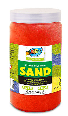 Coloured Art Sand Bottle 600g Assorted Colours For School & Party Craft Sand Art
