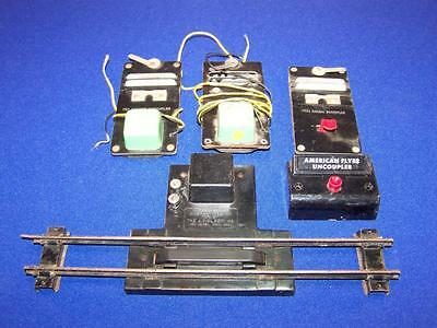 Vintage AMERICAN FLYER S Scale Remote 705 Uncoupler Track + Control Button Lot