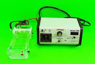 Electrophoresis system for DNA analysis - power supply, gel box