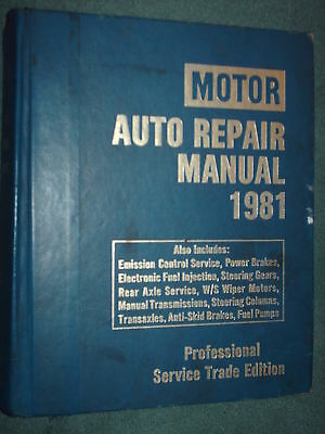 1976-1981 Chevy Ford Camaro Vette Mustang Plymouth Dodge  Motor Shop Manual