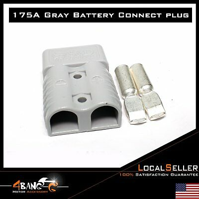 6x Car RV Grey 175 AMP BATTERY SB-175 POWER CONNECTOR (Pair) With cable Terminal