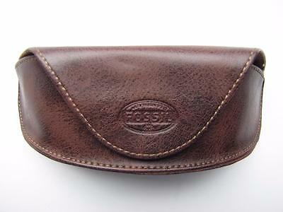 Brown Fossil Glasses/sunglasses Case/cover With Magnetic Clasp New