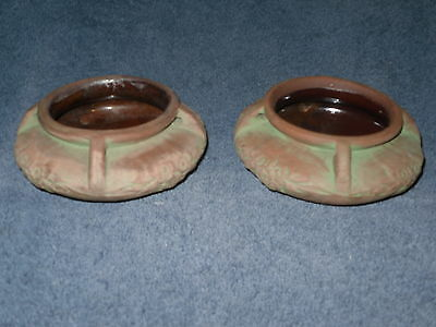 Pair Of (2) Peters And Reed Moss Aztec Hanging Planters