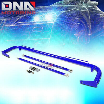 """49"""" Stainless Racing Protection Safety Seat Belt Chassis Harness Bar Rod Blue"""
