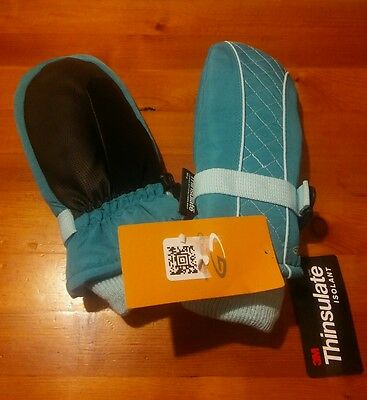 NWT Champion Venture Dry Thinsulate Girl's Snow Ski Mittens Waterproof TEAL