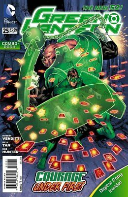 Green Lantern #25 (Vol 5) New 52 Combo Pack (Polybagged)