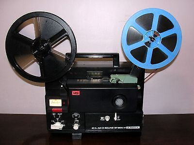 ELMO ST-600 2-TRACK  SOUND Super 8 movie Projector ~SERVICED~