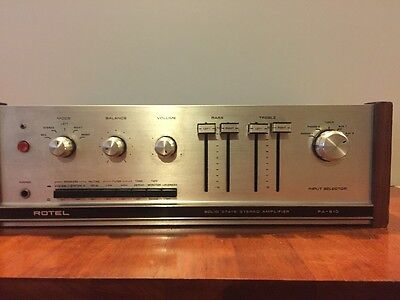 Vintage Rotel Solid State Stereo Amplifier RA-610