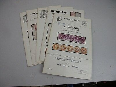 Lot x 85 Stamp Sale Auction Catalogues Robson Lowe & Christie's 1970s/1980s