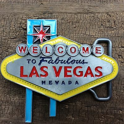 Belt Buckle 'welcome To Las Vegas' Music Rockabilly Kustom Kulture