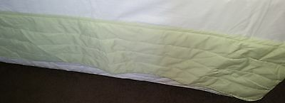 Lime Queen Bed Padded Valance