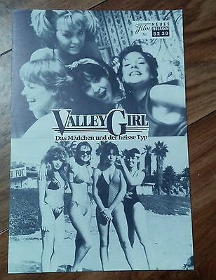 1984 Valley Girl Film Program (German) *RARE* Nicolas Cage