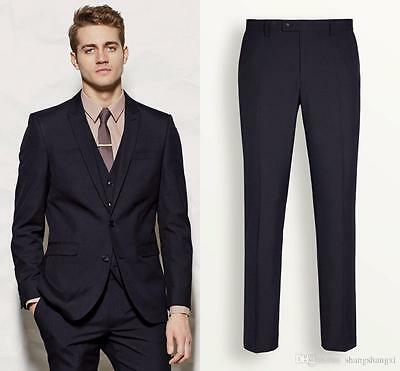 New Fashion Men's Formal Wedding Groom Tuxedos Groomsman Best Man Party Suits