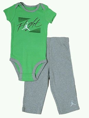 Nike Air Jordan Logo Baby Boys 2 PC Set Bodysuit Pants Size 6-9 Months 8a9b9cae6