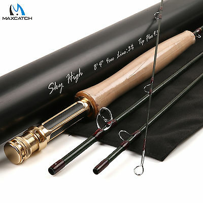 Fly Fishing Rod Skyhigh Graphite IM12 3WT 8'4'' 4Sec Toray Carbon Tip Flex 9.5