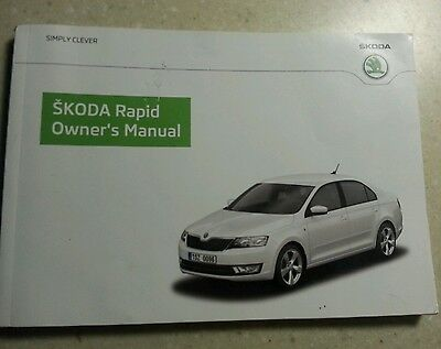 Skoda Rapid Handbook Owners Manual 2012 -2016 Book 5852