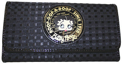 BETTY BOOP Licensed WALLET with Checkbook Holder (BLACK) NEW with Tag