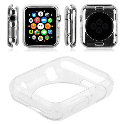 """Apple watch TPU Protector Gel Case for Apple iWatch Size 38""""- Clear"""