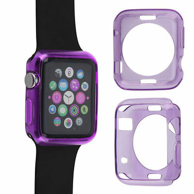 """Apple watch TPU Protector Gel Case for Apple iWatch Size 42"""" - Purple"""