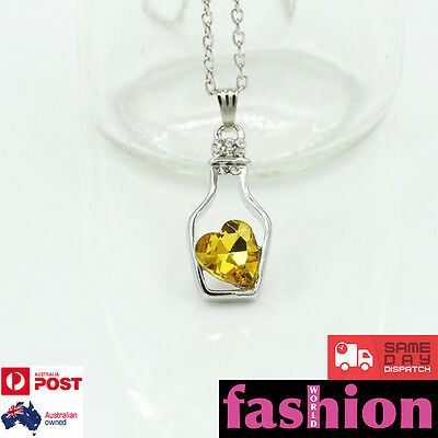 Women Fashion Necklace Ladies Jewellery Chain Charm Gold Heart Pendant Silver