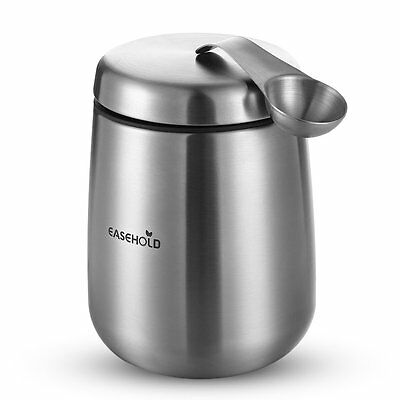Easehold Coffee Canister Stainless Steel Airtight Container with Magnetic Scoop