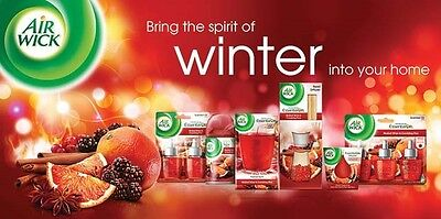AirWick Reed Diffusers 3 x WINTER SPECIALS Mulled Wine Spiced Orange Mums Baking