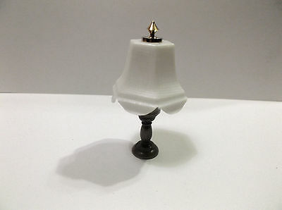 Miniature Doll House Table Lamp With White Plastic Shade Non Electric