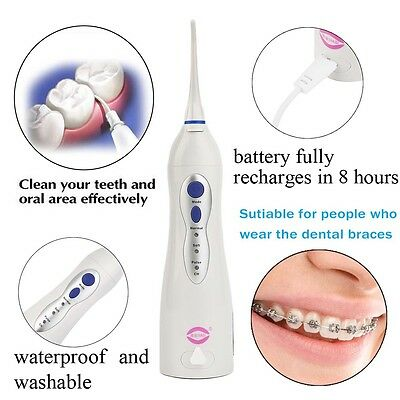 V8 Oral Irrigator Water Toothpick Teeth Whitening Dental Tooth Cleaning Tool AU