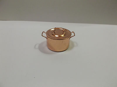 Miniature Doll House Copper Cooking Pot With Lid